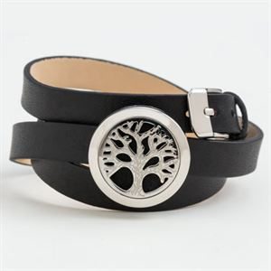 Picture of Tree of Life Oil Diffuser Bracelet with Triple Wrap